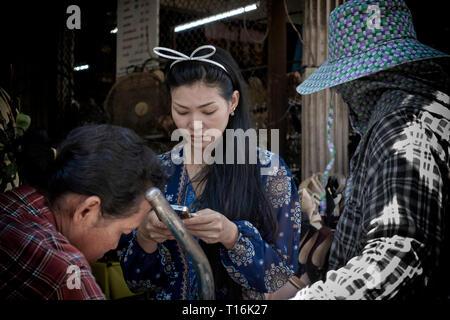Beautiful Asian Woman - Stock Image