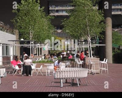 Cafe at Barbican Arts Centre London - Stock Image