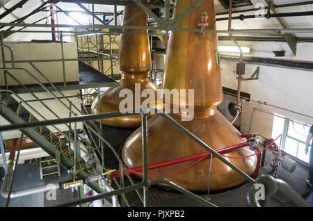 Whisky Stills at Ardbeg Distillery on Isaly, Scotland - Stock Image