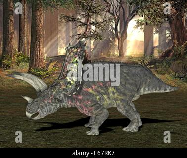Dinosaurier Pentaceratops / dinosaur Pentaceratops - Stock Image