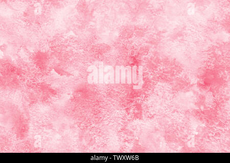 Marble color pink abstract or grunge watercolor paint texture background - Stock Image