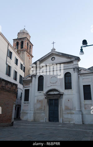 Neoclassical church in Venice - Stock Image