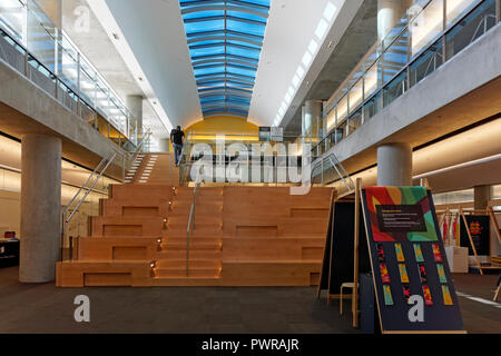 New Exhibition Space that opened on September 29, 2018 on the 8th floor of the Vancouver Public Library Central Branch, Vancouver, BC, Canada - Stock Image