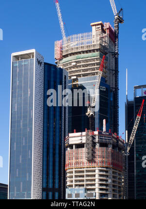 City Construction Site And Cranes In Brisbane - Stock Image