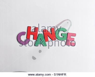 change (word) - Stock Image