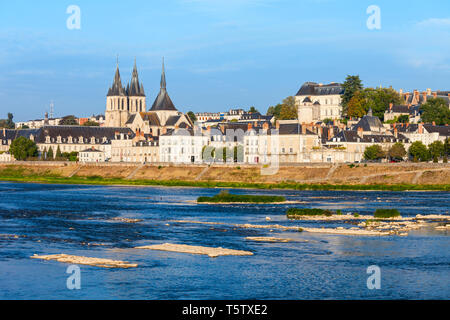 St. Nicholas Church in Blois city in France - Stock Image