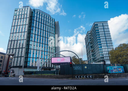 Modern office buildings at Old Street or Silicon Roundabout in London, UK - Stock Image