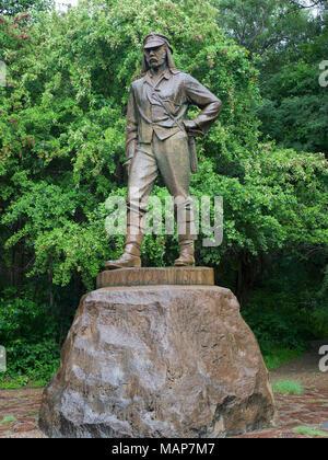 David Livingstone Memorial Statue, Victoria Falls, Zimbabwe - Stock Image