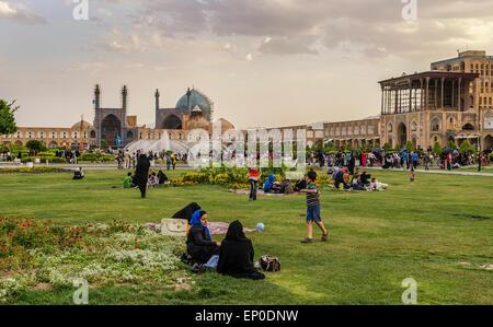 Imam Square in Esfahan, Iran - Stock Image