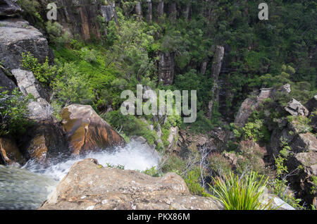 Edge of Carrington Falls, Southern Highlands, New south wales, Australia - Stock Image