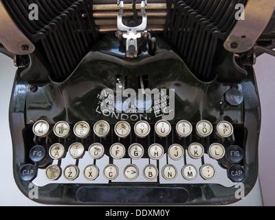 Old Typewriter machine showing keys London EC - Stock Image
