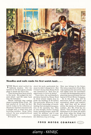 1943 U.S. Magazine Ford Motor Company Advert - Stock Image