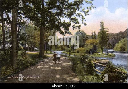 Lovers' Lane, Poughkeepsie, New York State, USA. - Stock Image