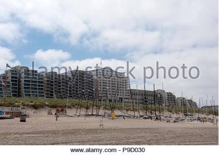 Noordwijk The Netherlands Seafront hotels - Stock Image
