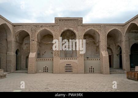 Nain Jameh mosque courtyard (9th century), Iran - Stock Image