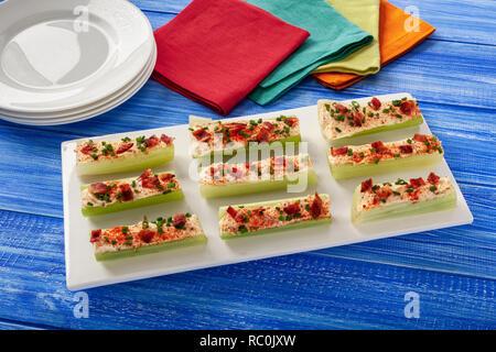 Celery Boats - Stock Image