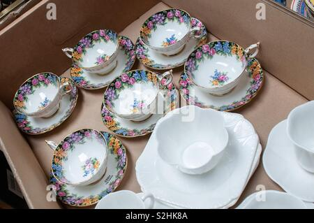 China for sale in box - Stock Image