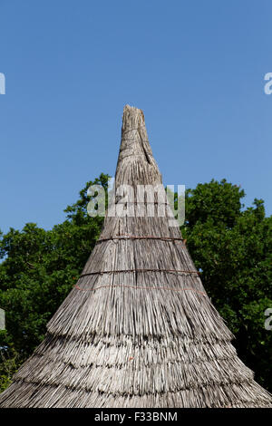 A rooftop at Le Village Gaulois. - Stock Image