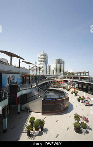The Larcomar shopping center in the Miraflores district of Lima, Peru - Stock Image
