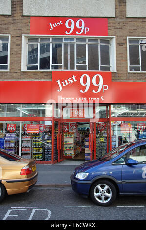 Just 99p discount store, Leicester, England, UK - Stock Image