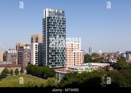 Loampit Vale, looking more  like Croydon, because of  high-rise, high massing  developments passed by Steve Bullock and Heidi Alexander - Stock Image