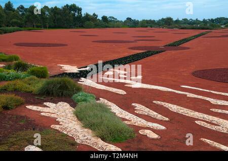 The Red Sand Garden, Australian Garden, Cranbourne, Victoria - Stock Image