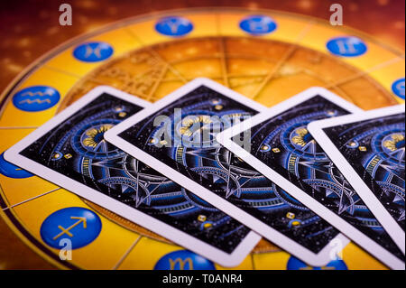 astrology and tarots cards - Stock Image