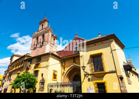 The San Juan de La Palma Roman Catholic church on Calle Feria in Seville - Stock Image