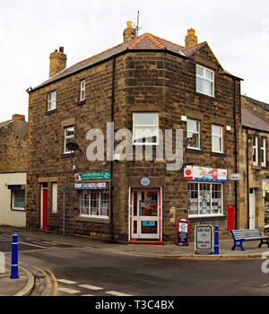 Cw 6678 Post Office Queen Street Amble  Amble is a small town on the north east coast of Northumberland in North East England. It was a former mining  - Stock Image