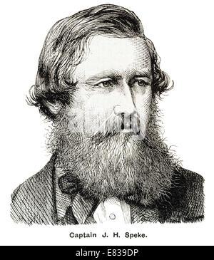Captain John  Hanning Speke African explorer 4 May 1827 – 15 September 1864 - Stock Image