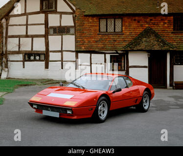 1984 Ferrari 512i BB Boxer Berlinetta 5 litre V12 engine developing 340bhp Country of origin Italy - Stock Image