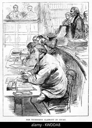 The Tichborne Claimant Arthur Orton in Court - Stock Image