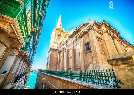 Valletta, Malta: St Pauls Pro-Cathedral - Stock Image
