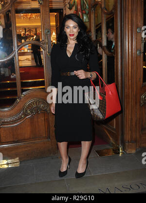'Fortnum and Mason: Christmas and Other Winter Feasts' book launch in London  Featuring: Janine Narissa Where: London, United Kingdom When: 17 Oct 2018 Credit: WENN.com - Stock Image