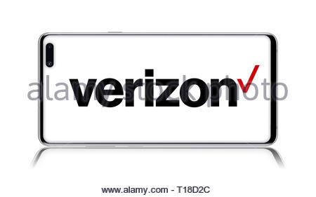 Verizon logo - Stock Image