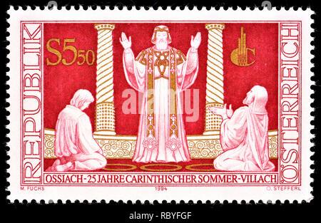 Austrian postage stamp (1994) : Carinthischer Sommer - music festival, Villach. 25th anniversary - Stock Image