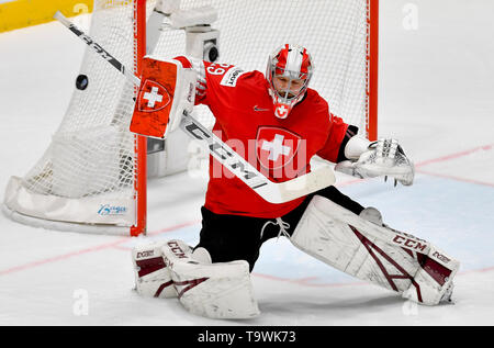 Bratislava, Slovakia. 21st May, 2019. Robert Mayer (SUI) in action during the match between Czech Republic and Switzerland within the 2019 IIHF World Championship in Bratislava, Slovakia, on May 21, 2019. Credit: Vit Simanek/CTK Photo/Alamy Live News - Stock Image
