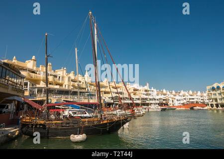 Benalmadena Spain. Benalmádena port, luxury Puerto Marina, Costa del Sol, Málaga province. Andalusia, Southern Spain, Europe. - Stock Image