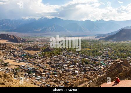 View over Leh, Ladakh, India - Stock Image