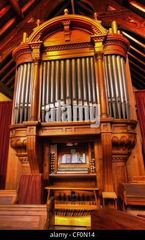 St Wilfrids, Davenham Organ, Near Northwich, Cheshire UK - Stock Image