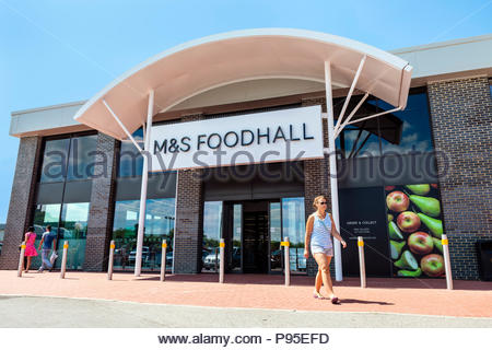 M&S Foodhall store, UK. - Stock Image