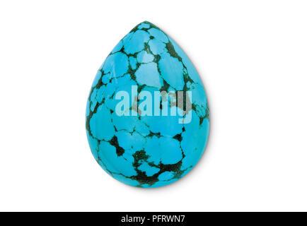 Gem Turquoise Cut Teardrop 20X15mm - Stock Image
