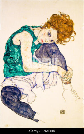 Egon Schiele, Seated Woman with Bent Knees (Adele Herms), 1917 - Stock Image