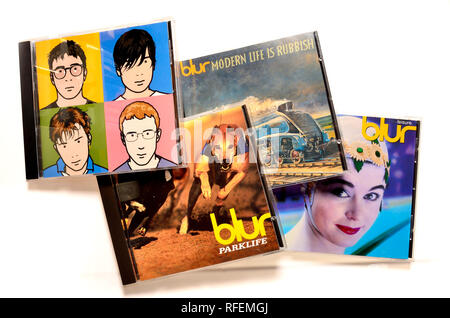 Blur albums on CD - Stock Image