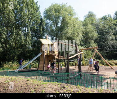 climbing frame and slide - Stock Image