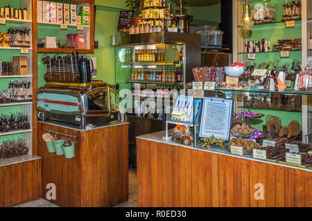 Shop Selling Hand Made Chocolate and Icecream, Stavanger Norway - Stock Image