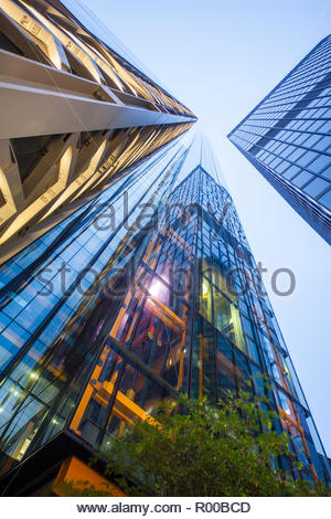 Low angle view of office buildings in London - Stock Image