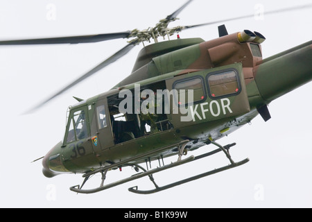 Bell 412HP Slovenian helicopter, Airshow Maribor 2008, Slovenia June 15, 2008 - Stock Image