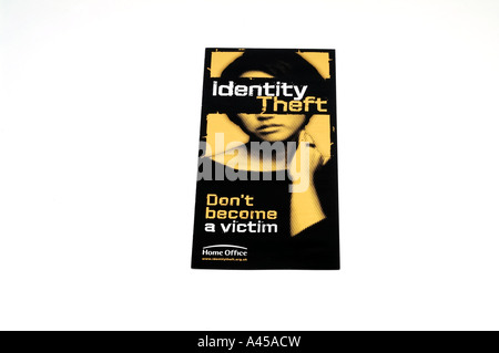 Identity theft home office - Stock Image