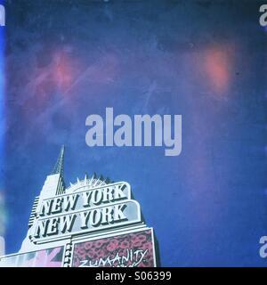 New York New York hotel sign in Las Vegas, Nevada. USA. - Stock Image